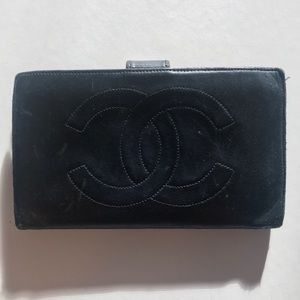 CHANEL Authentic lamb skin wallet